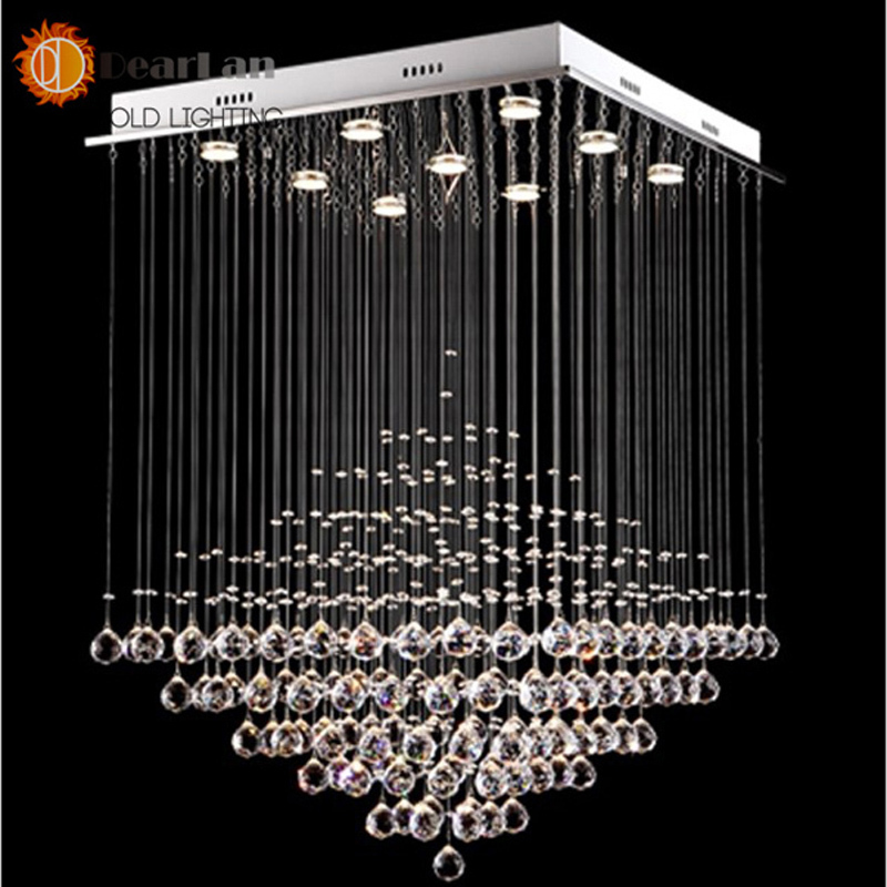 Modern Led Crystal Chandeliers,Crystal Pendant Lamp First-Level K9 Crystal Chandelier For Living Room loft modern crystal chandelier light for dining room led k9 crystal chandeliers lamp crystal e14 pendant lamp lighting wpl193