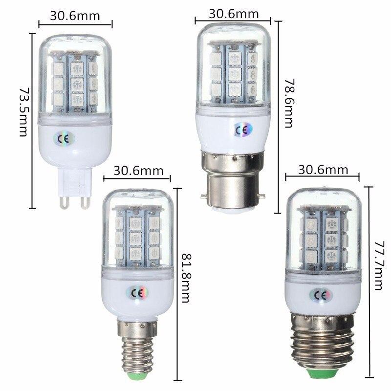 цена на Red Green Blue E27 E14 G9 2.5W 27 5050 SMD LED Light Corn Bulb Lamp AC220V New TM