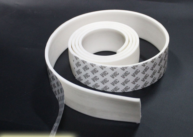 Custom Made Adhesive Silicone Rubber Foam Seal Strip Temperature Resistance Tape 10 x 2mm 10 x 3mm 10x5mm 10x10mm 1m Flat White