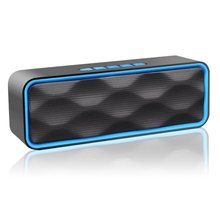 цены Wireless Bluetooth Speaker Outdoor Portable Stereo Speaker HD Audio Enhanced Bass Built-In Dual Driver 4.2 Handsfree Calling TF