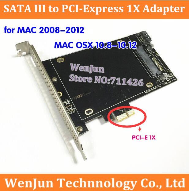 Prix pour 1 PCS Livraison Gratuite PCI Express SATA III SSD Adaptateur avec SATA III port pour Mac Pro 3.1-5.1 (2008-2012)