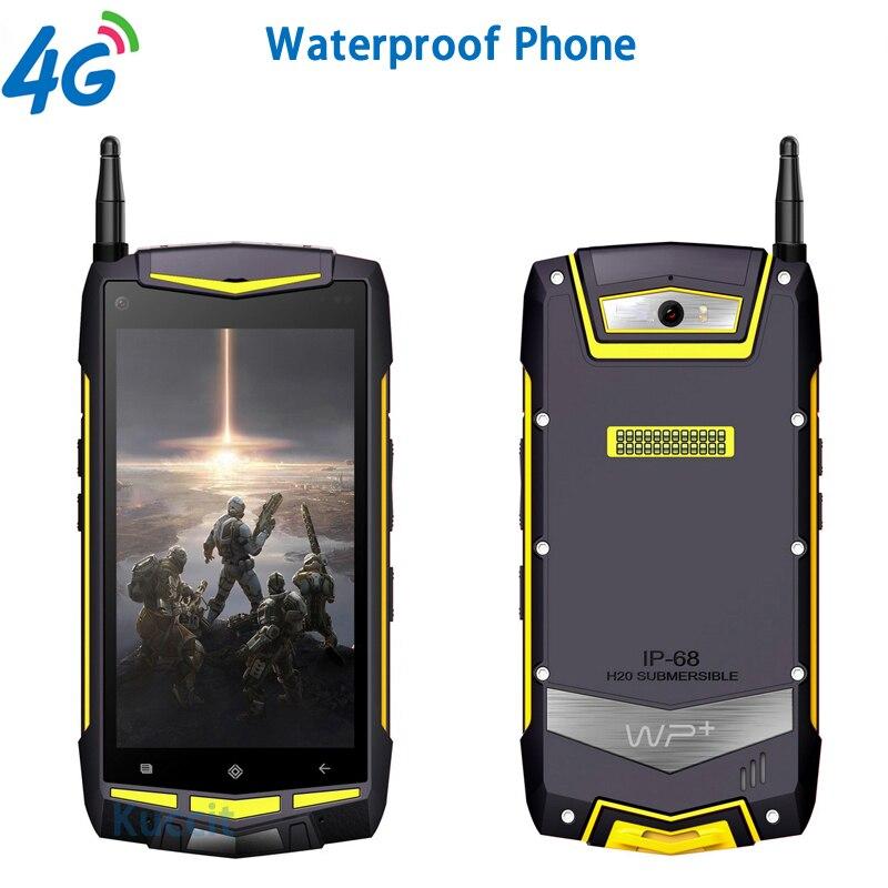 IP68 Rugged Android 5 1 Smartphone Waterproof Phone Shockproof outdoor 2GB RAM MTK6735 Quad Core Walkie