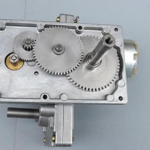 CNBTR 6rpm DC12V Turbo Worm Gear Speed Reduction Motor Turbine Reducer 25kg.cm Torqu