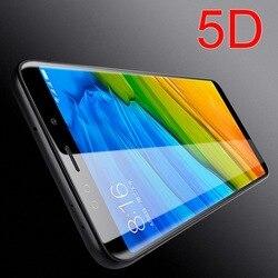 5D 전체 바디 접착제 강화 유리 샤오 미 테크 Redmi 5A 5 플러스 프로 참고 배 6 배 A1 3D 곡선 풀 커버리지 화면 보호 필름
