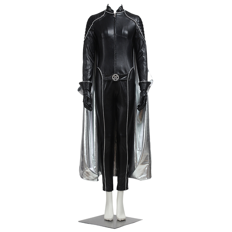X Men Storm Cosplay Costume Days of Future Past Ororo Munroe Cosplay Costume Jumpsuits Cape Carnival
