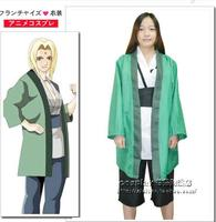 Naruto Tsunade Cos Fifth generation of Naruto Tsunade Cosplay Costume Whole Set With Vest&Pants&Top For Role Play