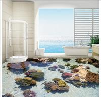 3d photo wallpaper custom mural pvc flooring wallpaper Coral sea tropical fish floor murals wall papers home decor