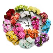 144Pcs 3cm Paper Rose Artificial Flowers Wedding decoration Mini Handmade Bouquet Small Party Scrapbooking DIY Azalea Flower