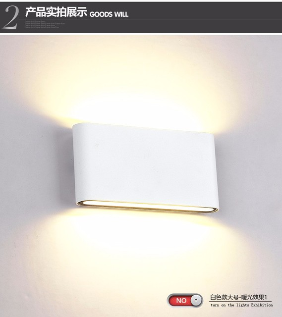 Indoor outdoor lighting dimmable cob led wall light 6w 12w ac85 265v indoor outdoor lighting dimmable cob led wall light 6w 12w ac85 265v updown led wall aloadofball Image collections