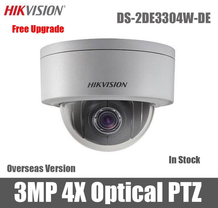 imágenes para DS-2DE3304W-DE Hikvision 3MP Red Mini Cámara PTZ IP Versión Inglés 2.8mm-12mm IP66 POE Pan tilt zoom cctv cámara