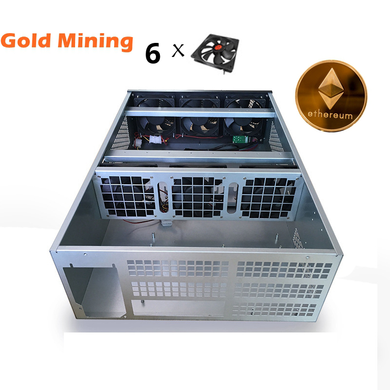 Crypto Coin Open Air Mining Frame Rig Graphics Case ATX Fit 6 GPU Ethereum ETH ETC ZEC XMR USB miner rig sever chassis for 1080