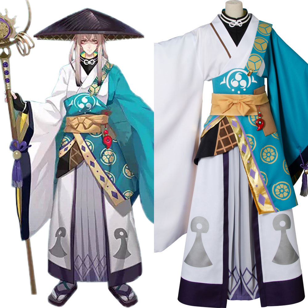 Yin Yang Master Onmyouji Aobouzu Cosplay Costume Outfit Kimono Suit Halloween Carnival Costumes