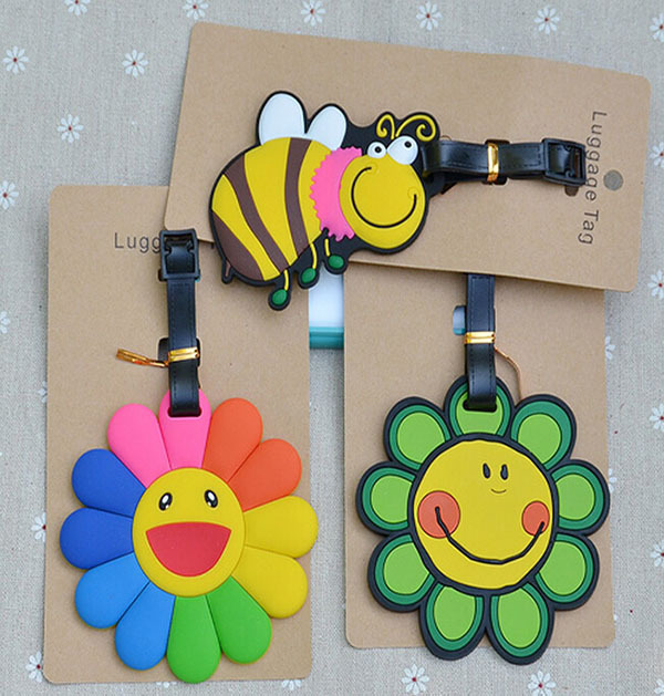 COOL 1PCS Sunflowers Anime Luggage Tag Travel Accessories Suitcase ID Address Portable Tags Holder Baggage Labels New