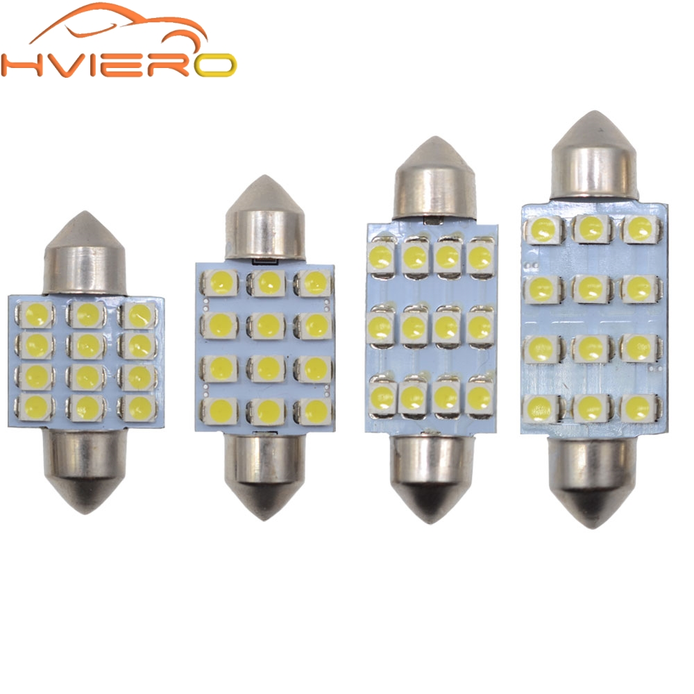 10x 3528 12 Smd Led Auto Car Interior Festoon Dome Bulbs Lamp Light Dc 12v 41mm Atv,rv,boat & Other Vehicle