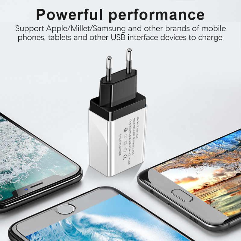 الاتحاد الأوروبي/الولايات المتحدة التوصيل 3 ميناء USB الهاتف شاحن محول حائط شاحن سريع شحن ل فون x Xiaomi سامسونج هواوي نوع c المصغّر usb كابل