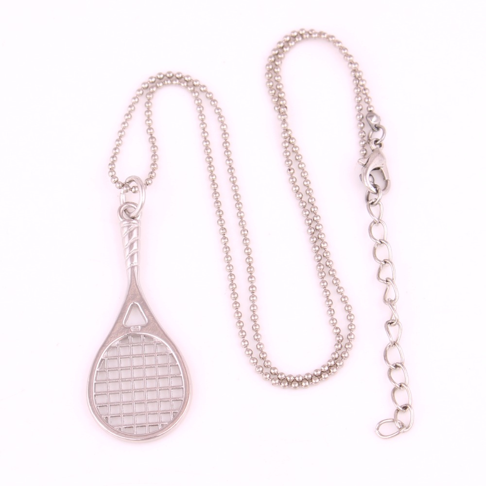 Drop shipping 1pcs tennis racket pendant with 18 popcorn chain drop shipping 1pcs tennis racket pendant with 18 popcorn chain tennis racquet racket sports series necklace in pendant necklaces from jewelry accessories aloadofball Choice Image