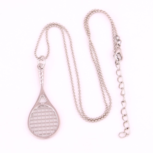 Drop shipping 1pcs tennis racket pendant with 18 popcorn chain drop shipping 1pcs tennis racket pendant with 18 popcorn chain tennis racquet racket sports series mozeypictures Image collections