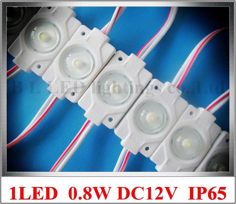 Водонепроницаемый впрыска 0.8 Вт светодиодное освещение с объективом DC12V 1led ce применяется в освещение коробки PMMA знак буквы блистер слова и т...