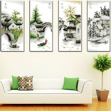 Four seasons in water village Multi-pictures Cross Stitch Kits  Set DIY Chinese Cross-stitch Counted Embroidery Needlework