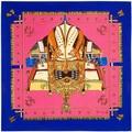 100 cm * 100 cm 100% Seda de la Tela Cruzada de la Marca Euro Francia Barco Buque de Guerra de Las Mujeres Femal Bufanda Cuadrada Primavera Imprimir Bufandas chal 3112