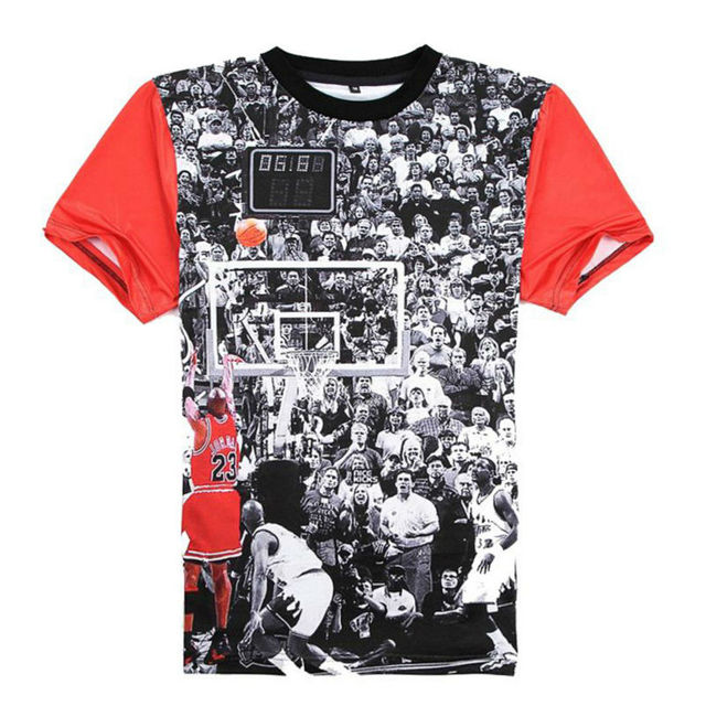 e17cac651e89 Mode 3D Imprimé T-shirts Hommes Jordan T-shirt 23 À Manches Courtes  Graphique