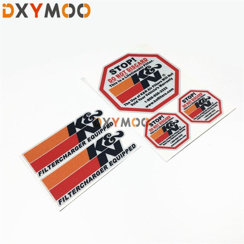 K/&n KN K et N Autocollant Sticker Décalque Filtre À Air Filtre Tuning Racing Stop!