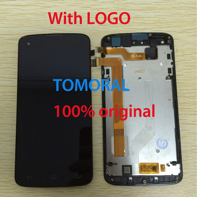 100% Brand new For Black and white for Philips I908 LCD Display + Touch Screen Digitizer Glass Assembly With Frame Free Shipping