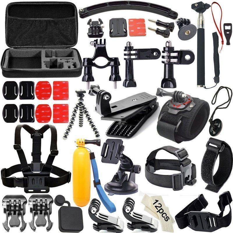Prix pour 50 en 1 Kit D'accessoires pour GoPro Hero 4 3 + 3 2 1, accessoires Faisceau