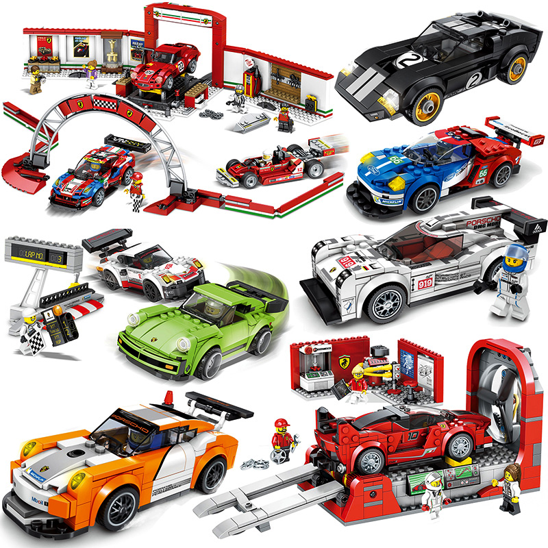 Toys-Sets-Kits Bricks Building-Blocks Champions Racing-Car-Model City Legoed-Speed Super-Racers