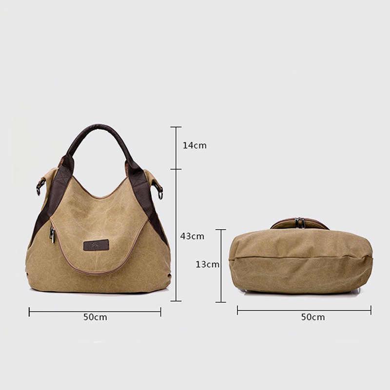 2019 Kvky ยี่ห้อขนาดใหญ่กระเป๋า Casual Tote กระเป๋าถือผู้หญิงกระเป๋าสะพายผ้าใบหนังความจุกระเป๋าสำหรับสตรี