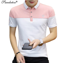 Polo Shirt Men 2019 Summer Brand Men's Fahsion Turn-down Collar Cotton Short Sleeve Patchwork Tops Tees Camisa Polo Masculina стоимость