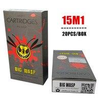 Free Shipping Bigwasp Gray Disposable Needle Cartridge 15 Single Stack Magnum 1015M1 20Pcs Box