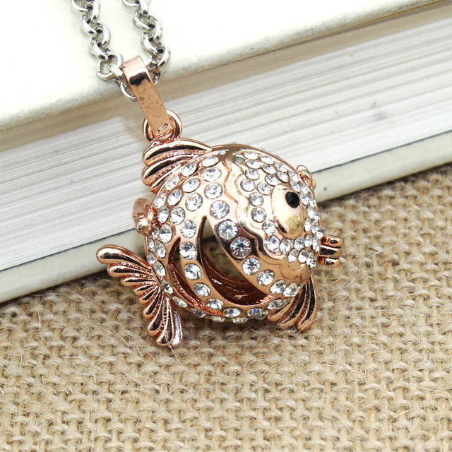 Fish Boho Necklace For Women Necklace Aromatherapy Jewelry Essential Oil Diffuser Necklace With Lockets Felt Pat 040120 1