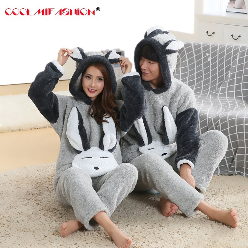 New Spring Winter Anti Cold Keep Warm Women Coral Fleece Pajamas Set Of Sleepcoat & Bottoms Lady Home Clothing Thermal Flannel
