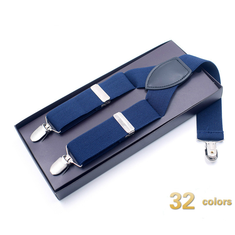 32 Colors New Man's Suspenders 3 Clips Y Leather Braces Casual Suspensorios Trousers Strap 3.5*120cm Gift for Dad Tirantes