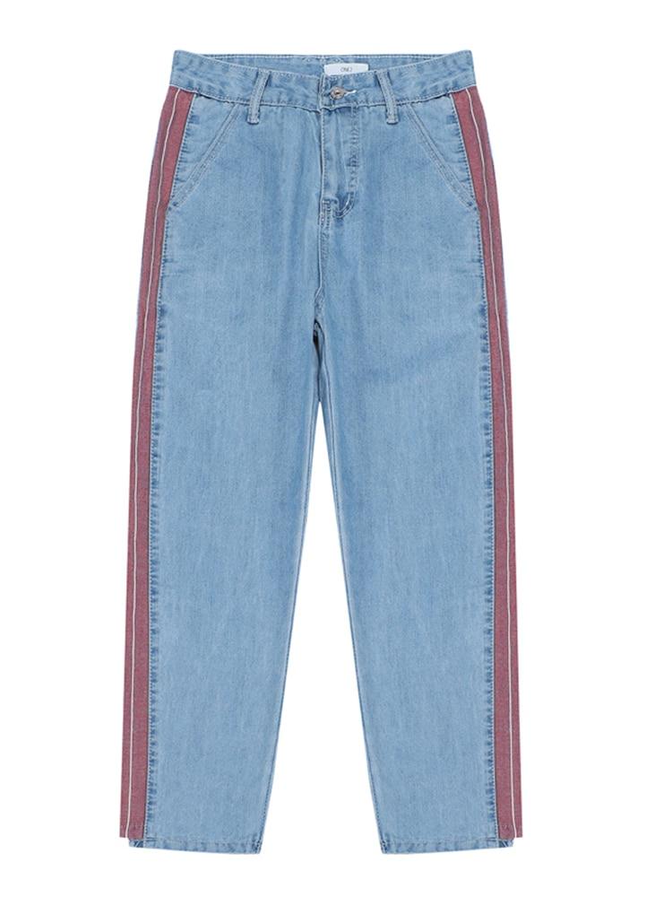 490d155596 Azul Rayas Color Primavera Mujer Pantalones Mezclilla Nueva 2019 La Casual  Moda Juego De UgSFqxwnv