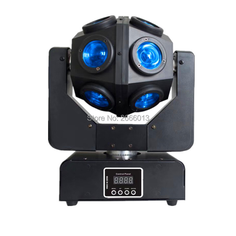 12X10W RGBW LED Beam Infinite Football Moving Head Light DMX512 Unrestricted Rotation Beam Stage Light Good For Disco DJ Party