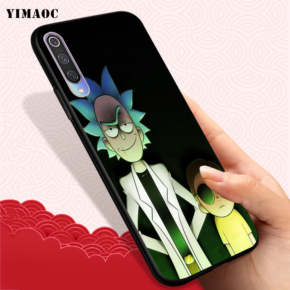 YIMAOC Luxury Cartoon Rick And Morty Soft Case for Xiaomi Mi5 Mi5S Mi6 Mi9 Mi8 Lite SE A1 A2 Lite Pocophone F1 MAX 3 in Fitted Cases from Cellphones Telecommunications