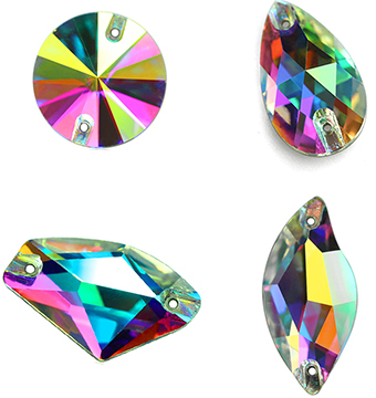 Image 5 - Crystal AB Large Size 4 Shapes AAAAA Quality Boutique Shape Sew On Rhinestones Sewing Beads For Dress Making Jewelry Decoration-in Rhinestones from Home & Garden