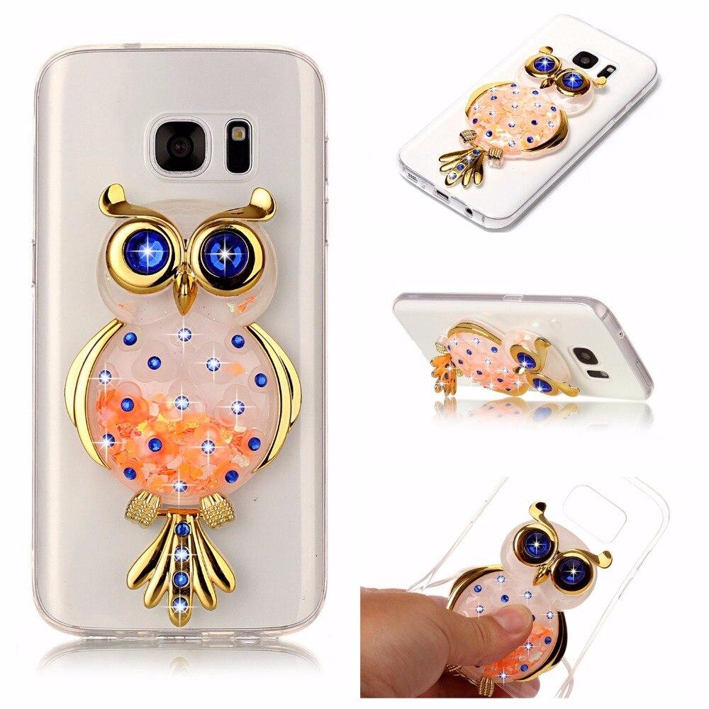 Sunjolly блеск мягкий чехол для телефона bling зыбучие пески горный хрусталь крышка блестка Coque для Samsung Galaxy S7/S7 Edge S8/ s8 плюс