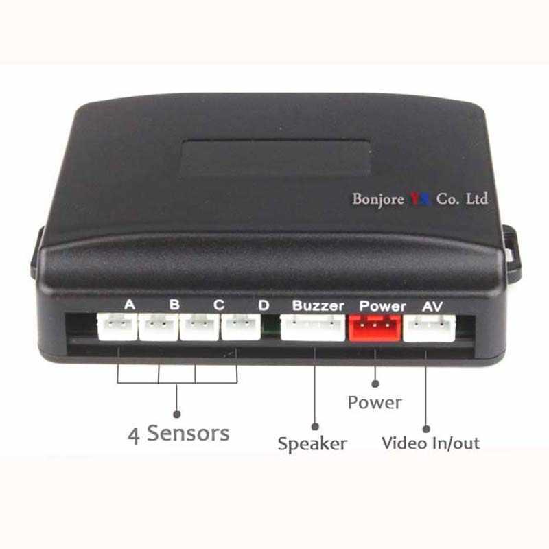 Koorinwoo Dual Core CPU Parktronic 4 parkeer Sensoren auto achteruitrijcamera parking Accossories Park Radar Alarm Video Systeem
