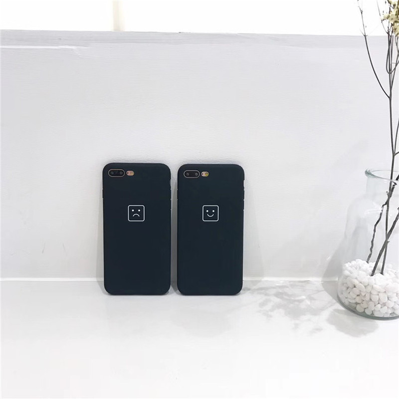 US $4 99 |Square Expressions All Inclusive Soft Shell Apple6plus Mobile  Shell Iphone8/7plus/6s Couple-in Half-wrapped Cases from Cellphones &