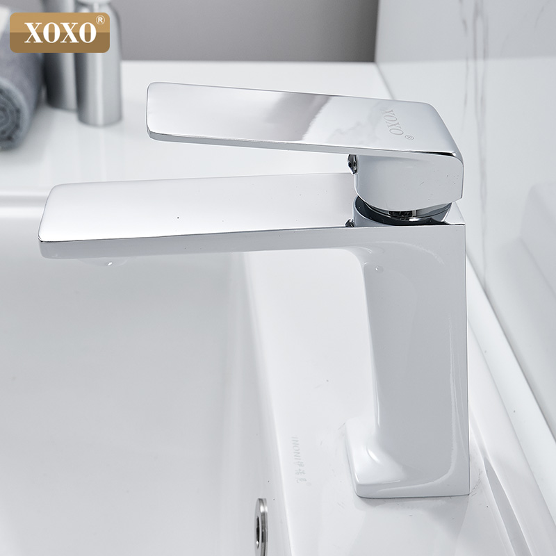 XOXO Basin Faucet Hot and Cold Single Handle Hole Bathroom Sink Faucet Faucet Basin Taps Deck