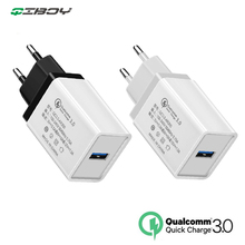 18W USB Charger Quick Charge 3.0 Fast Charging EU Plug Wall Mobile Phone Adapter For iPhone 8 7 Samsung Xiaomi Huawei P20 QC3.0 цены