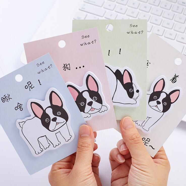 Naughty Dog Memo Pad N Times Sticky Notes Escolar Papelaria School Supply Bookmark Label stylish memo pad scheduler about 160 page