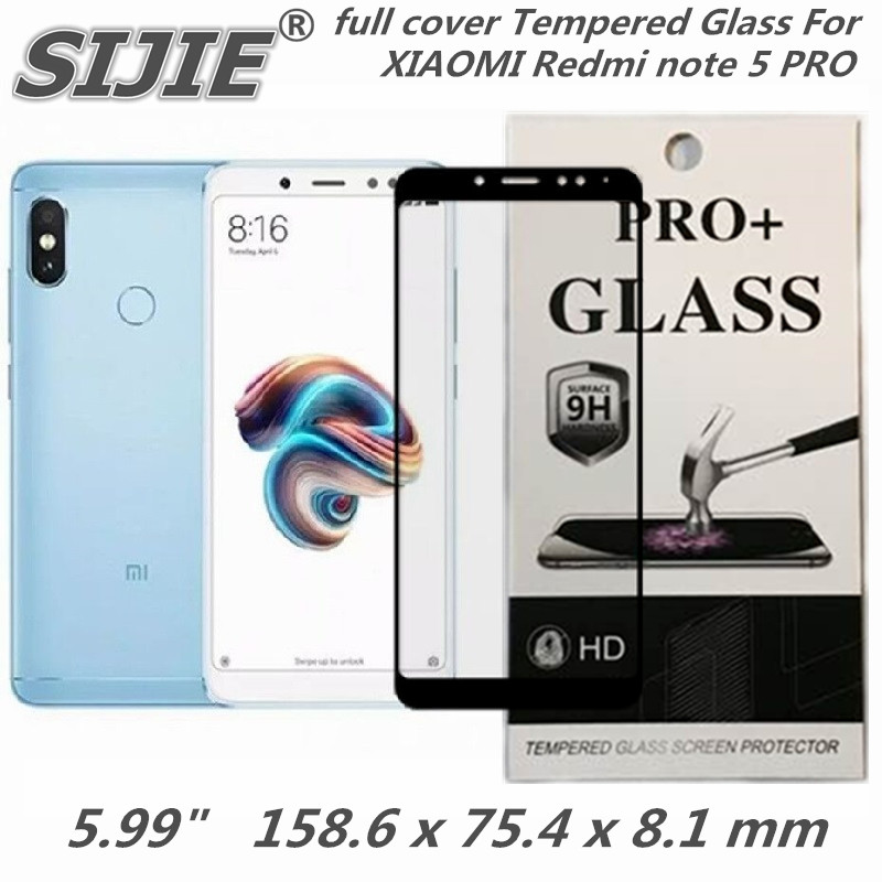 full cover Tempered Glass For XIAOMI Redmi note 5 PRO note5 prime global 5.99 inch 6X Screen protective smartphone on toughened
