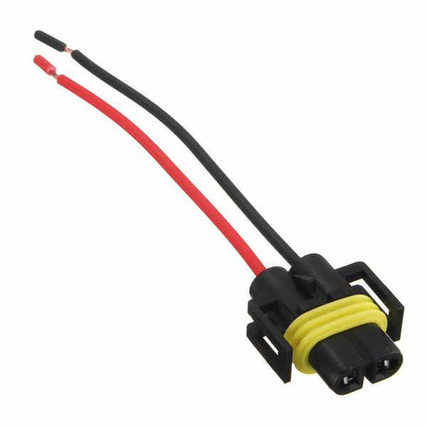 New H8 H11 Female Adapter Wiring Harness Socket Car Auto Wire Connector Cable Plug For HID LED Headlight Fog Light Lamp Bulb