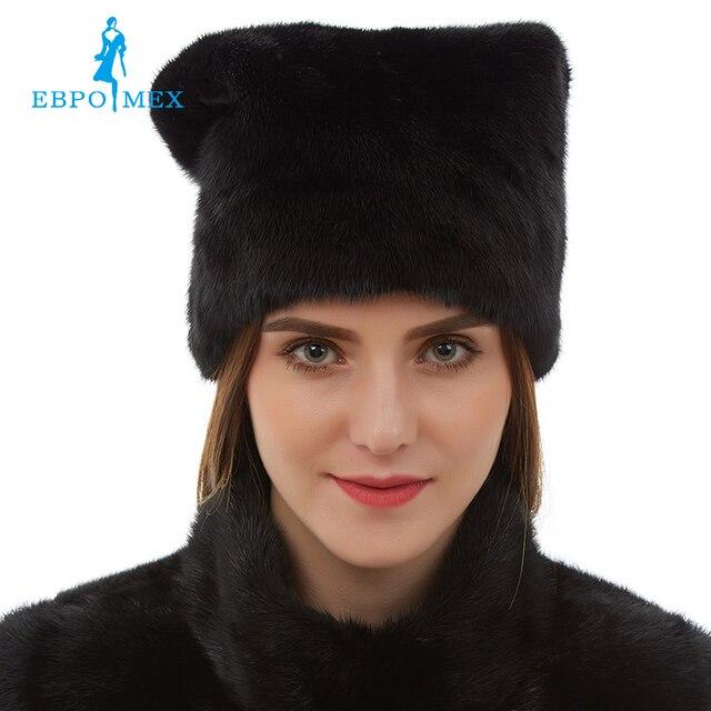 Nuovo arrivo Carino cappelli di pelliccia di visone reale cappello di  pelliccia di visone per le 04eb8b287842
