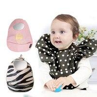2015 Baby Children Polka Dot Gold Bib Eating Pocket Lovely Cute Kids Burp Cloths Waterproof