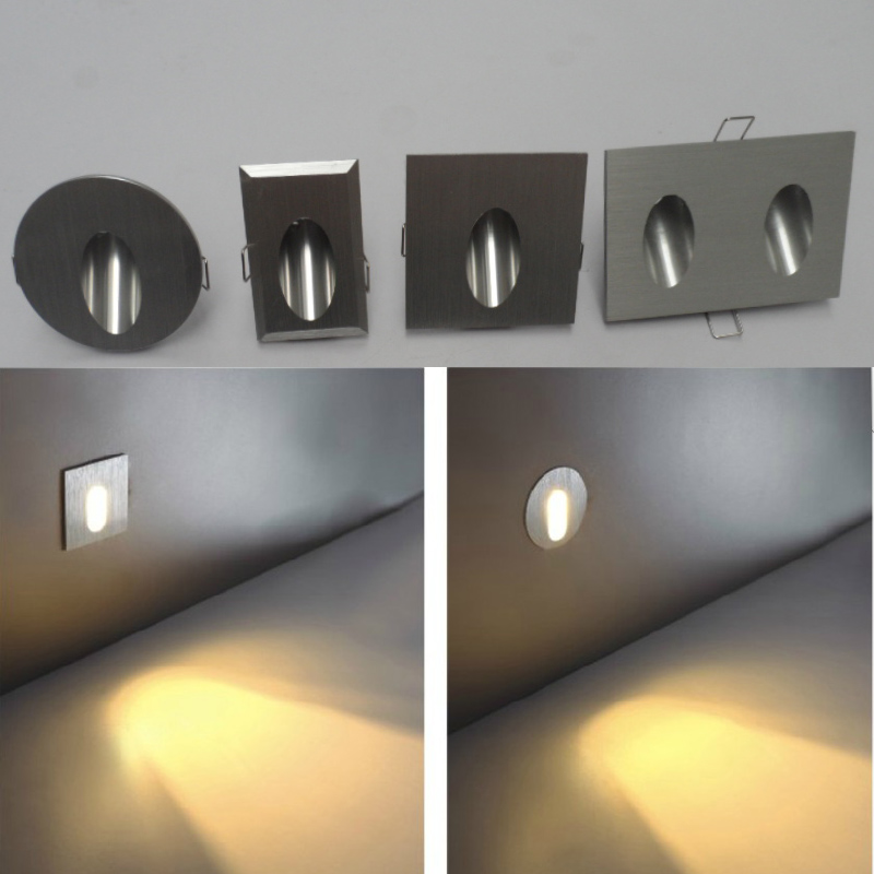 Free Shipping HI-Q Aluminum Modern Brief LED Stair Light 85-265V 3W Wall Mounted Spotlight Background Light Step Aisle Lamp